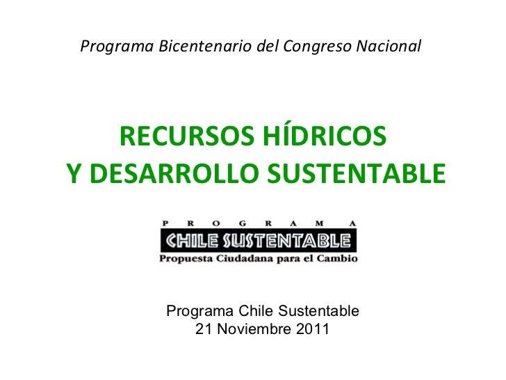 Recursos hidricos y desarrollo sustentable, Sara Larraín