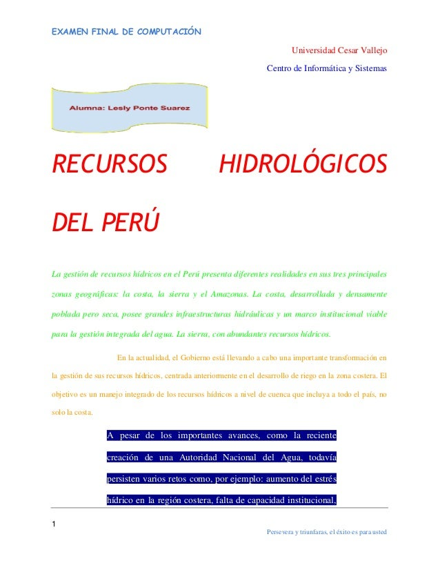 Recursoshidrologicos