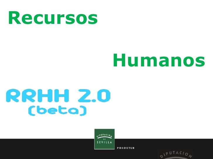 Recursos  Humanos PRODETUR