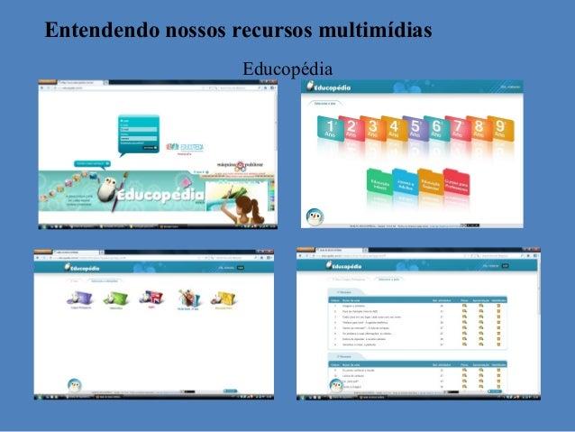 Entendendo nossos recursos multimídias                   Educopédia