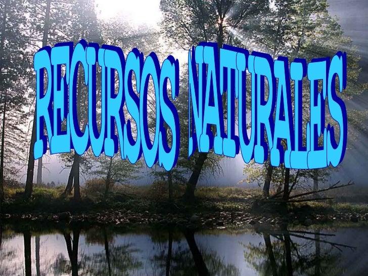 ¿QUÉ SON LOS RECURSOS      NATURALES?Son todos loscomponentes dela naturalezaque aprovechael ser humanopara satisfacersus ...