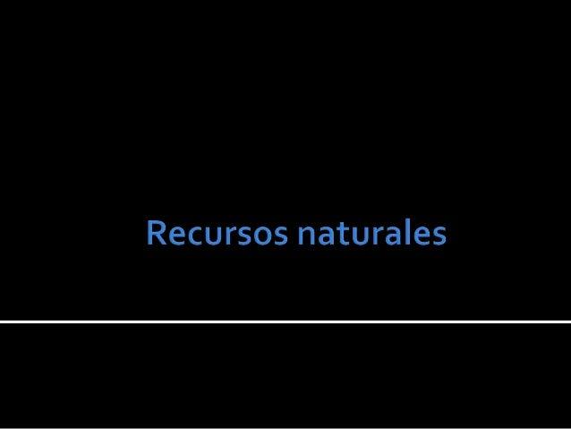    Son los recursos que no    son    susceptibles   de    regeneración en lapsos    menores a varios miles o    millones ...