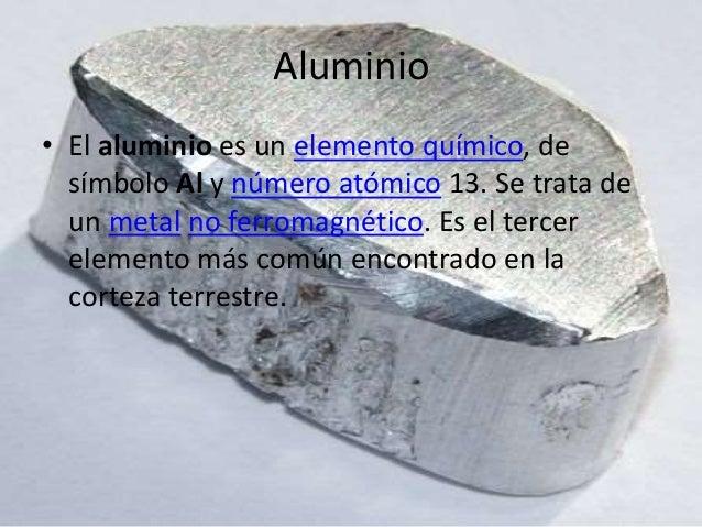 Aluminio elemento