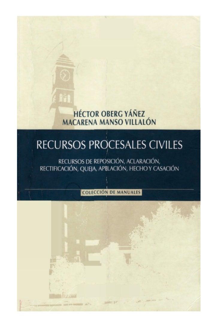 RECURSOS PROCESALES CIVILES   2