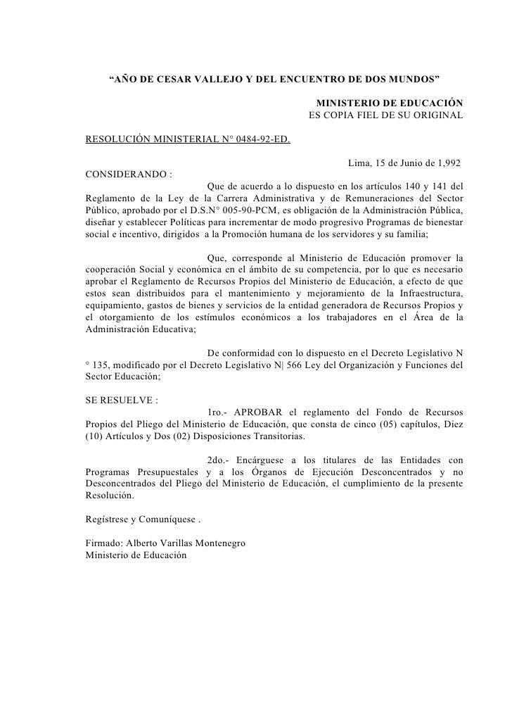 """""""AÑO DE CESAR VALLEJO Y DEL ENCUENTRO DE DOS MUNDOS""""                                                      MINISTERIO DE ED..."""