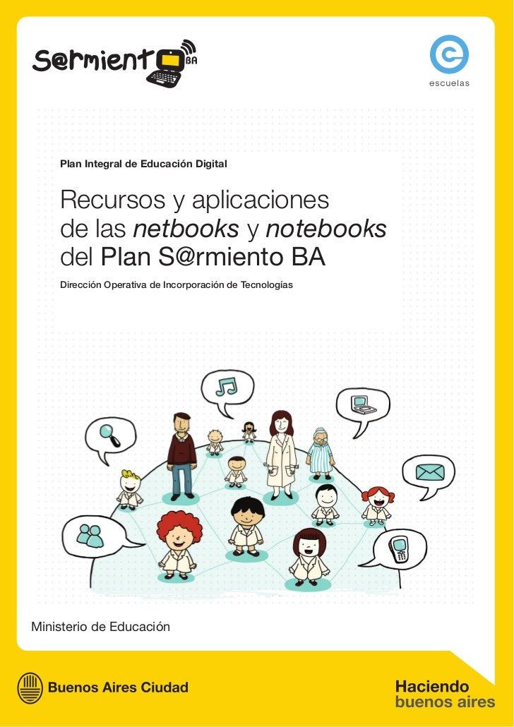 Recursos y aplicaciones - Netbooks y notebooks - Plan Sarmiento BA