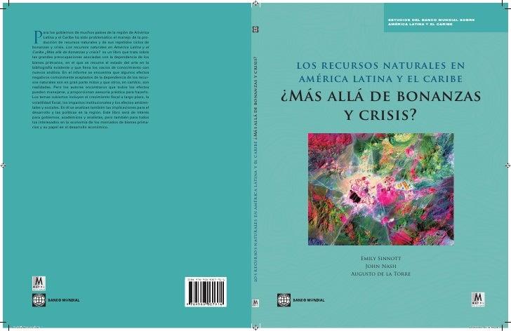 Recusos naturales en america latina banco mundial
