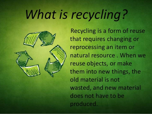 Essay about why we should recycle