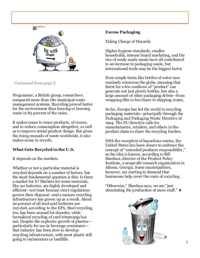 essays on recycling in schools If you're looking for an essay example discussing reasons why we should care about recycling why we should recycle how many of us high school essays.