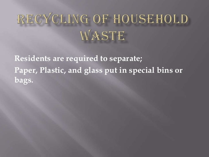 Recycling of household waste fernando brua