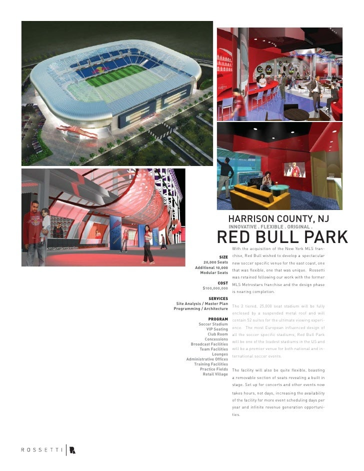 HARRISON COUNTY, NJ                                INNOVATIVE . FLEXIBLE . ORIGINAL .                       RED BULL PARK ...