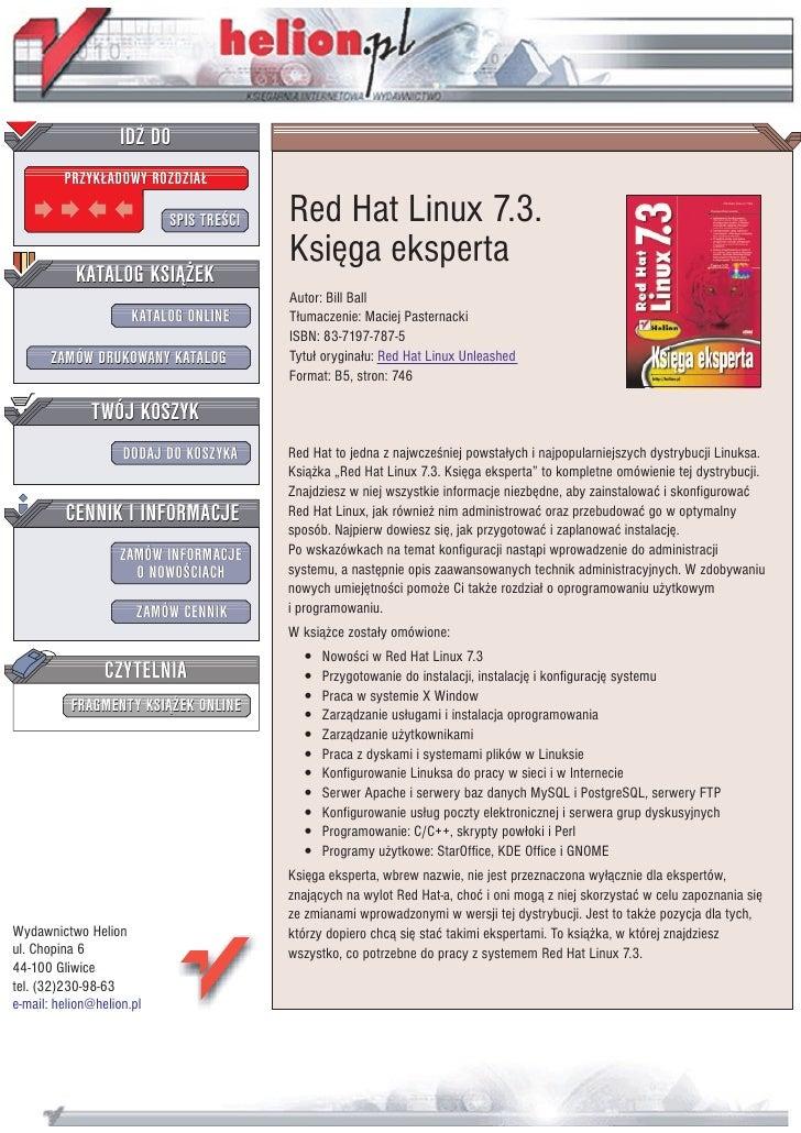 Red Hat Linux 7.3. Księga eksperta