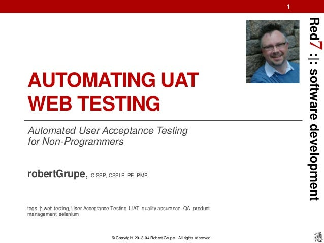 Red7 Automating UAT Web Testing