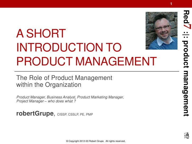 Red7 Introduction to Product Management