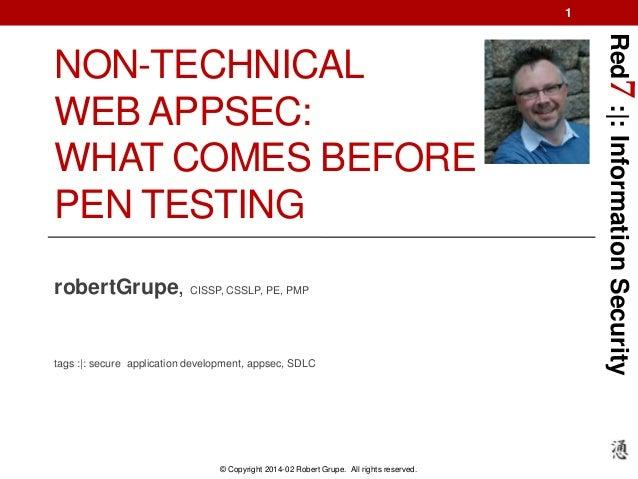 Web Application Security: Beyond PEN Testing