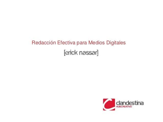 Redacción Efectiva para Medios Digitales