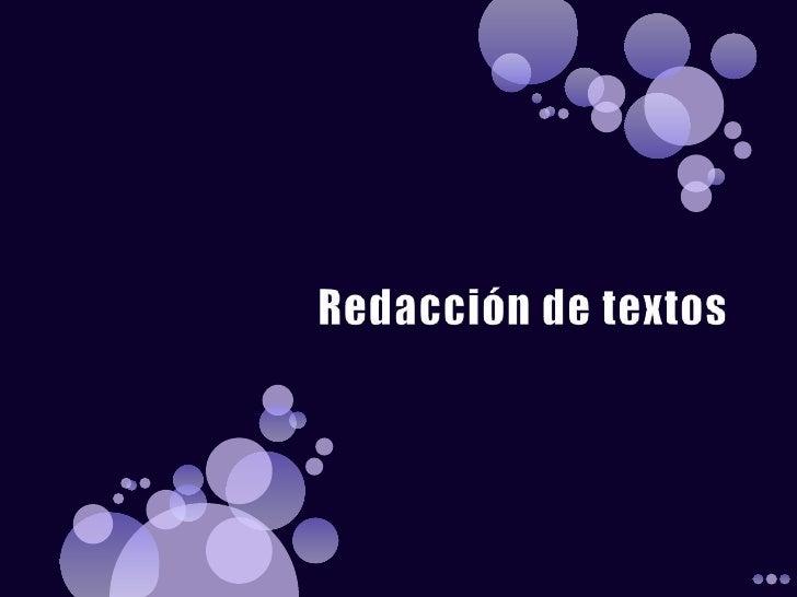 Redaccion de textos