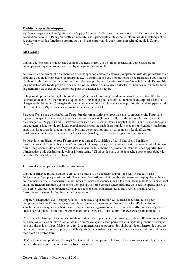 Integration Supply Chain (French)