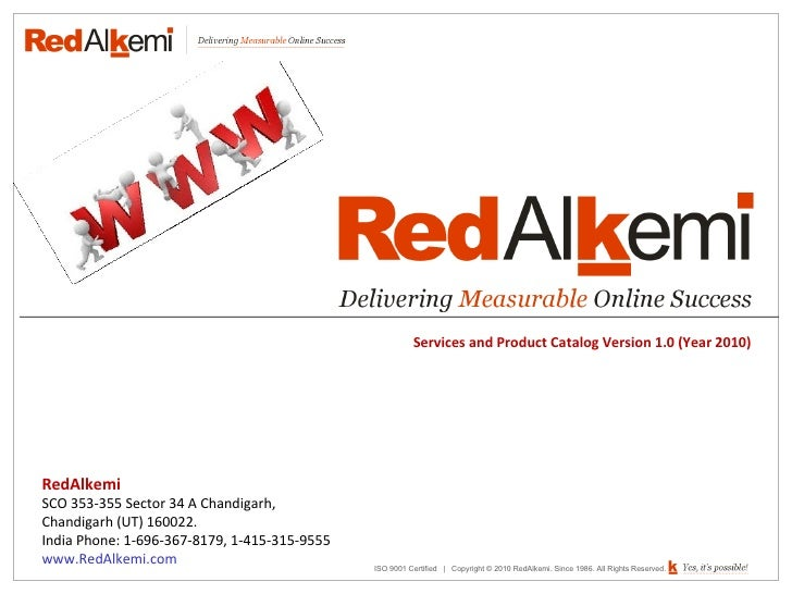 Red alkemi   services and products catalog