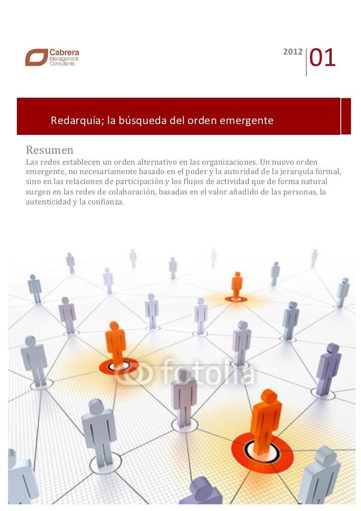 cuaderno de innovación 01: Redarquía, la búsqueda del orden emergente