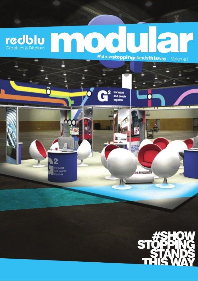 Modular Exhibition Stand Goals : Redblu graphics modular exhibition display stands brochure