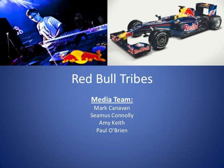 Red Bull Tribes   Media Team:    Mark Canavan   Seamus Connolly      Amy Keith     Paul O'Brien