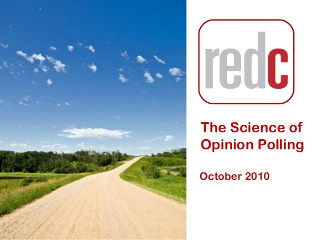 The Science of Opinion Polling October 2010