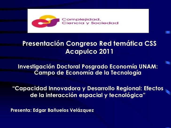 Capacidad innovadora y desarrollo regional