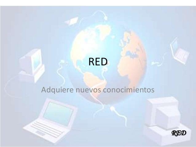 RED Adquiere nuevos conocimientos  RED