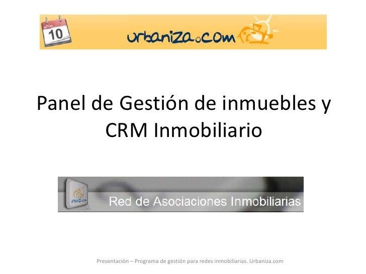 Panel de Gestión de inmuebles y CRM Inmobiliario<br />