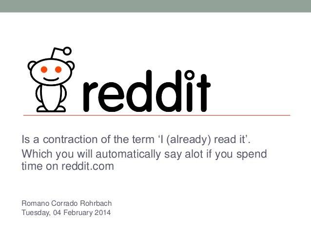 Romano Corrado Rohrbach: Reddit