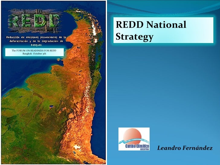 Leandro Fernández REDD National Strategy  The FORUM ON READINESS FOR REDD  Bangkok  Octuber  3th