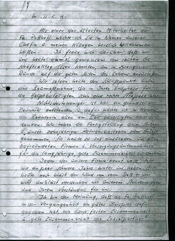 Rede der einweihungsfeier   29.11.1980