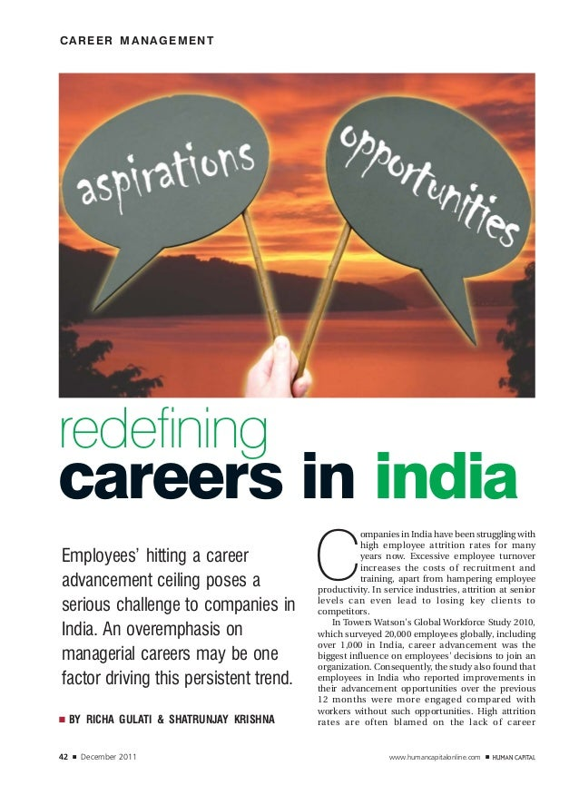 CAREER MANAGEMENTredefiningcareers in india                                            C                                  ...