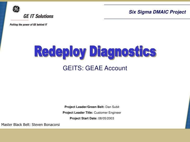 Redeploy Diagnostics Six Sigma Case Study