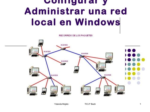 Configurar y Administrar una red local en Windows  Yolanda Mejido  TIC 2º Bach  1
