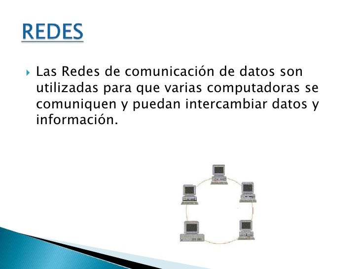 Las Redes de comunicación de datos son utilizadas para que varias computadoras se comuniquen y puedan intercambiar datos y...