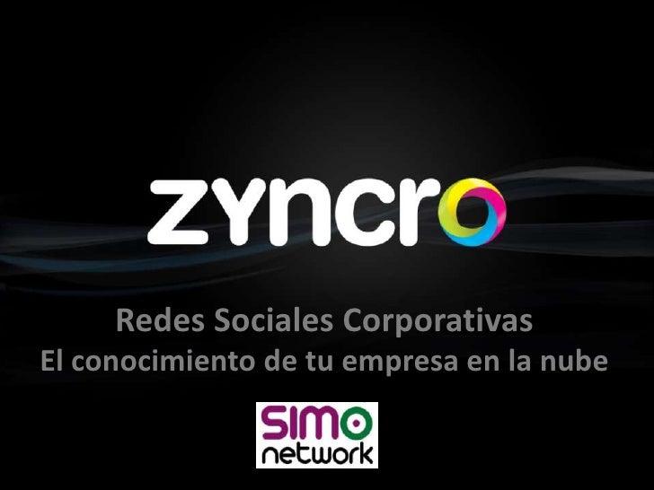 Las Redes Sociales Corporativas según Zyncro en SIMO