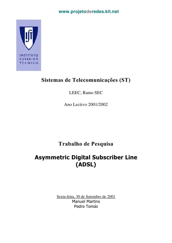 www.projetoderedes.kit.net  Sistemas de Telecomunicações (ST)              LEEC, Ramo SEC           Ano Lectivo 2001/2002 ...