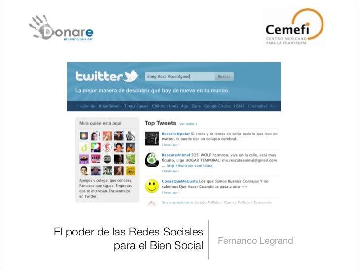 Redes sociales para el bien social