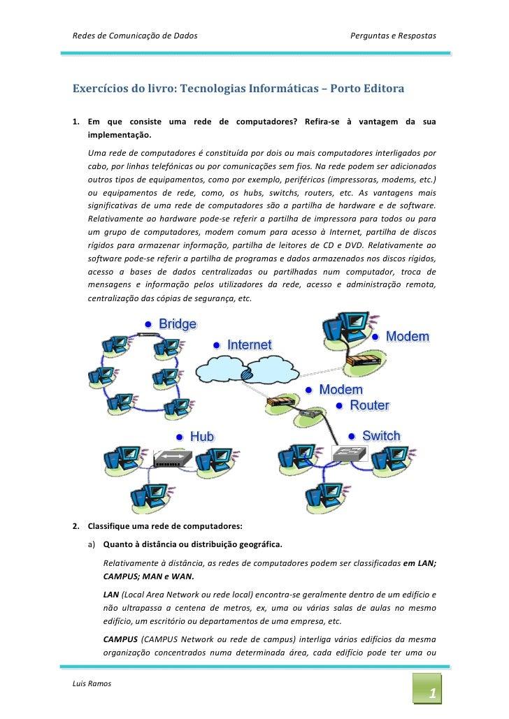 Redes de Comunicação de Dados                                               PerguntaseRespostas     Exercíciosdolivr...