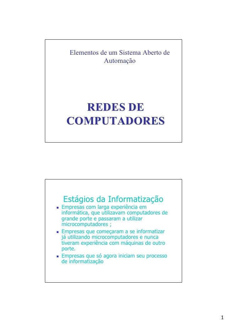 Redes de computadores   slides
