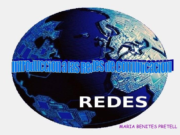 Introduccion a las Redes de Comunicacion. MARIA BENITES PRETELL