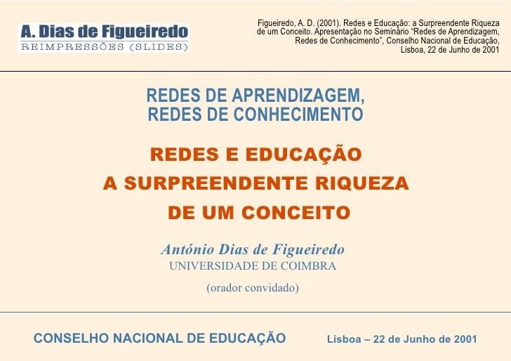 Figueiredo, A. D. (2001). Redes e Educação: a Surpreendente Riqueza                              de um Conceito. Apresenta...
