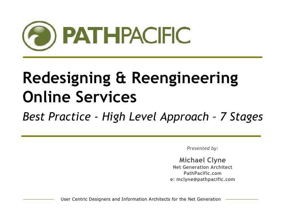 Redesign & Reengineer Online Services - Best Practice - PathPacific.com