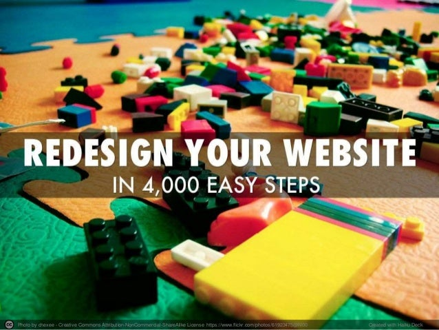 Redesign Your Website in 4,000 Easy Steps