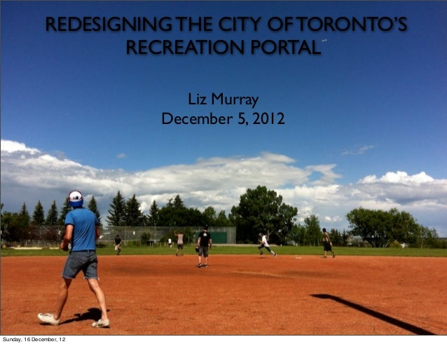 Redesigning The City of Toronto's Recreation Portal