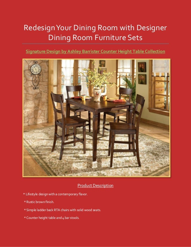 Redesign your dining room with designer dining room for Ashley furniture room planner