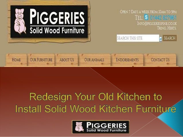 Redesign Your Old Kitchen To Install Solid Wood Kitchen