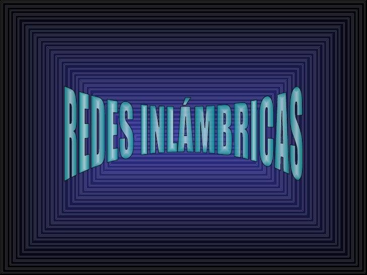 Redes inalmbricas